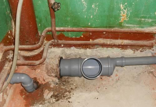 Монтаж труб канализации в квартире в Ногинске