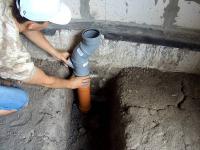 Разводка канализации на кухне