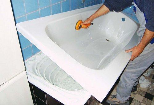 Замена акриловой ванны в Ногинске