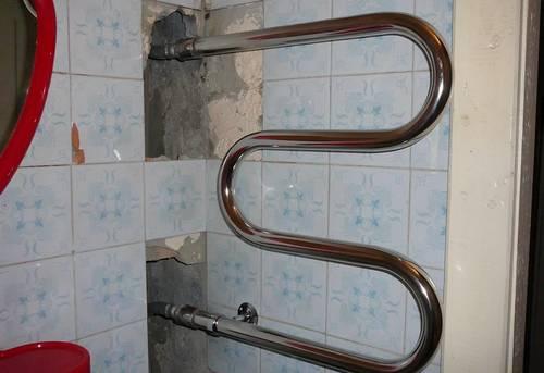 Замена контурного полотенцесушителя в Ногинске