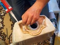 Замена сливной напольного арматуры