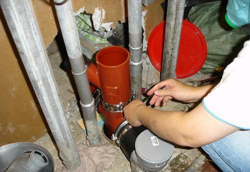 Замена стояка канализации на кухне в Ногинске