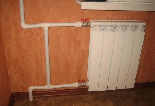 Замена стояка отопления с установкой байпаса в Ногинске